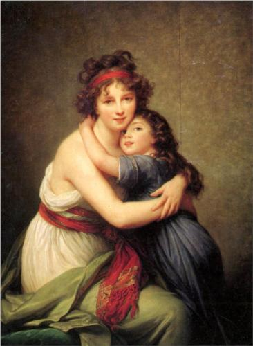 Madame Vigee Lebrun and her daughter Jeanne Lucie Louise  by Louise Elisabeth Vigee le Brun