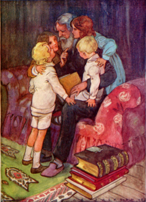 The Children's Hour  illustration by A.E. Jackson