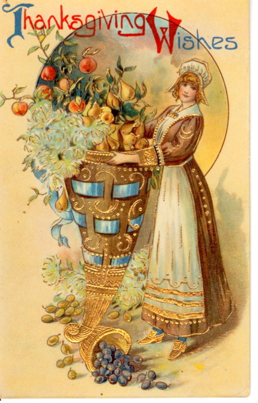 Vintage Thanksgiving postcard woman.jpg