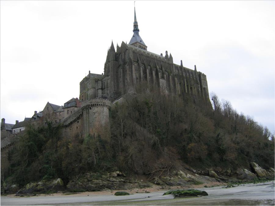Mont St. Michel at low tide