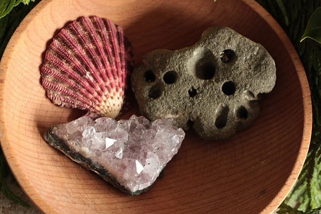 Natural items for Steiner advent verses via  Frontier Dreams