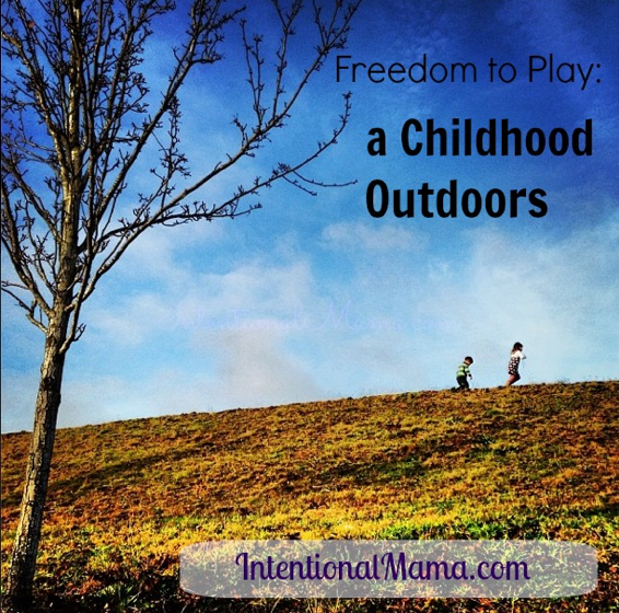 Pin Freedom Play Childhood Outdoors Intentional Mama.png