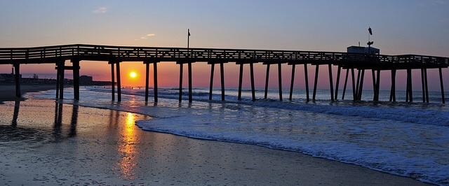 Ocean City at Sunrise by  Peter Miller