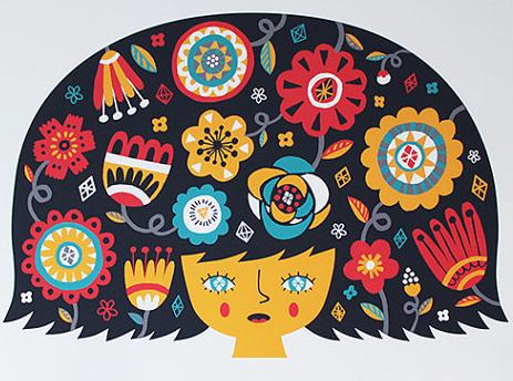 Mural  for Monserrat College of Art by  Allison Cole , Illustration via  Etsy