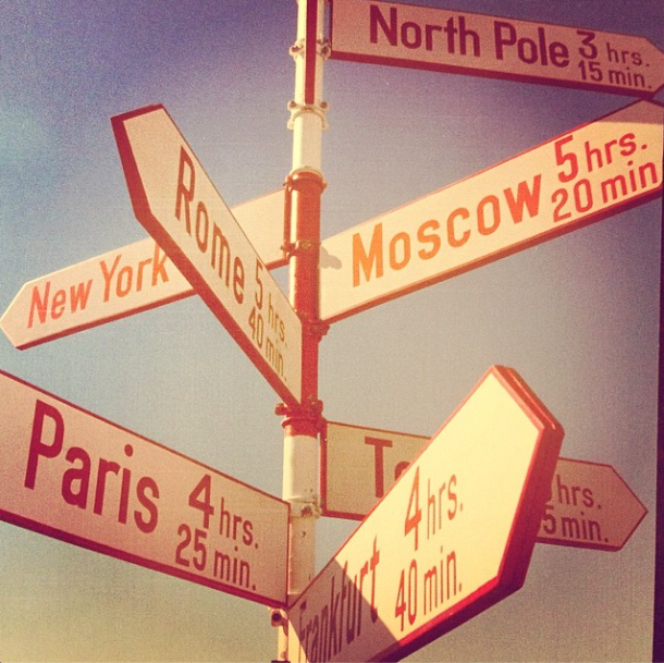 A signpost that holds places of significance to the  Bradfords (via Instagram )
