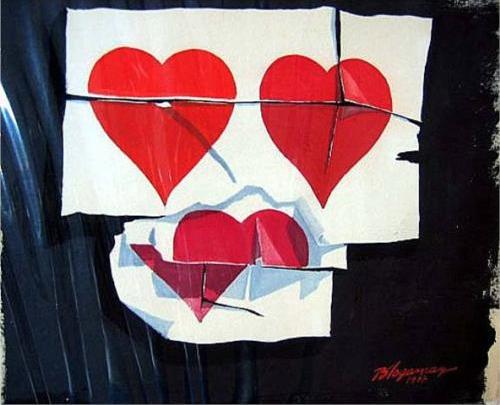 Three Break-Ups by  Burhan Dogancay