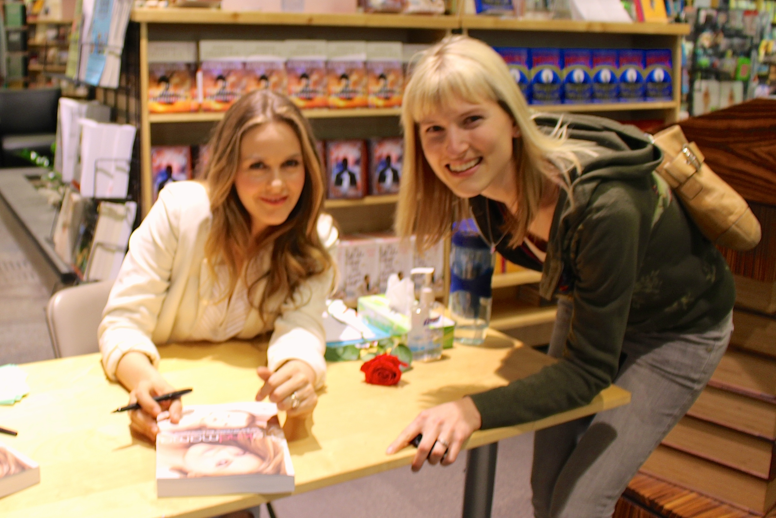 Alicia Silverstone signing my copy of  The Kind Mama  in Portland, Oregon, this last week