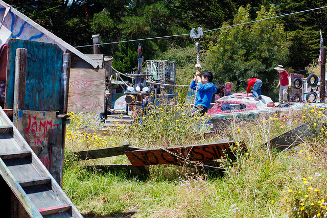 Berkeley, CA adventure playground & zip line; photo by  Jaricelli