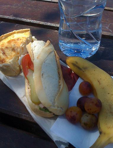 Baguette lunch by  Paul Downey