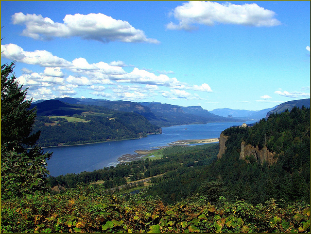 Columbia River Gorge at Crown Point, Oregon by  Don Graham