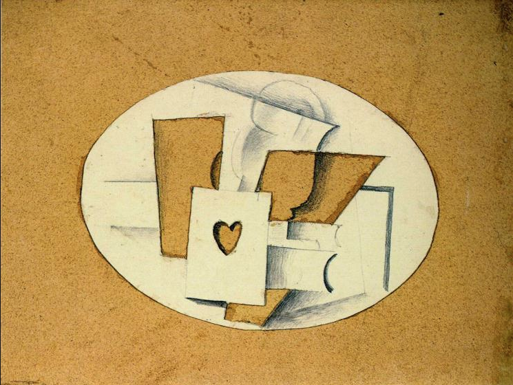 Still Life with Ace of Hearts by Georges Braque, 1914