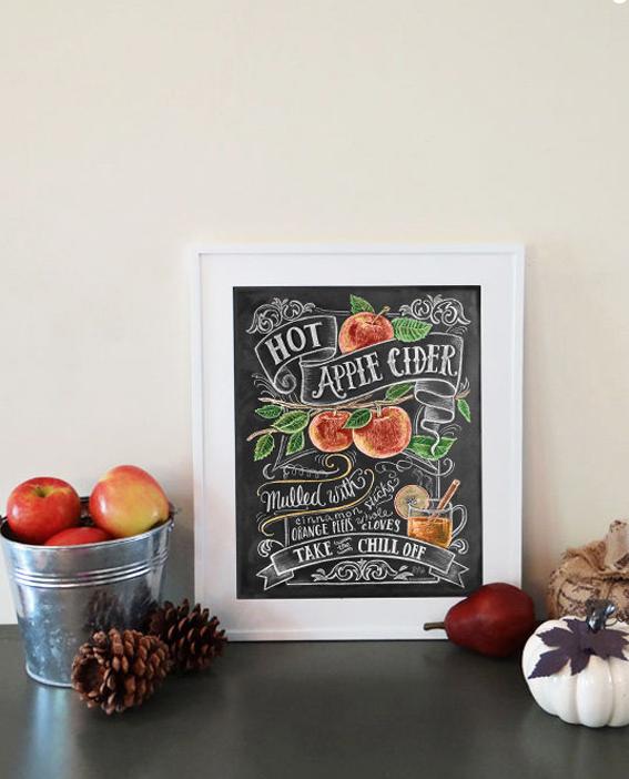 Apple Cider chalkboard print by  LilyandVal  via  Etsy