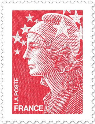 France timbre stamp la marianne by Yves Beaujard