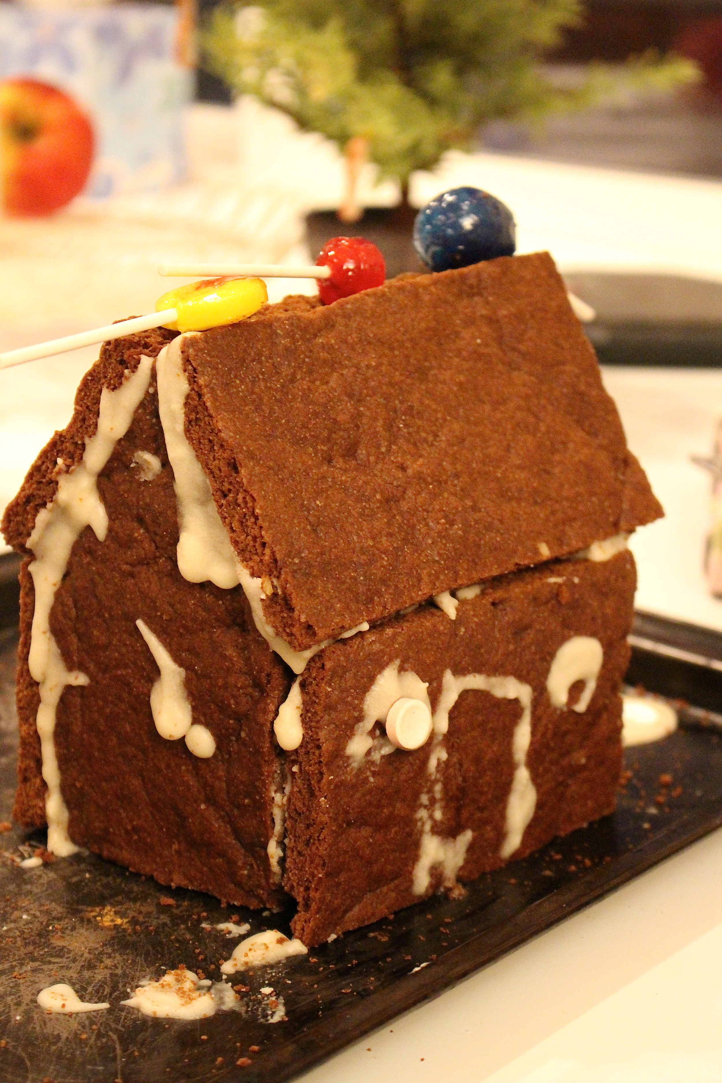 My son's gingerbread house