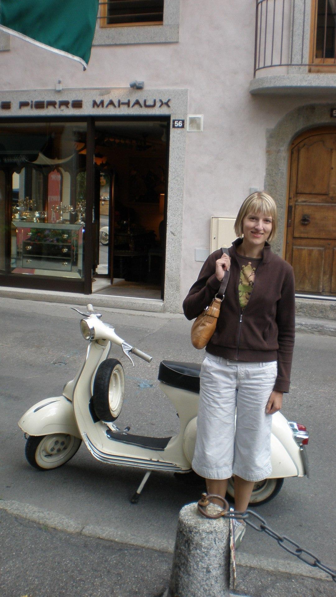 My twenty-something self in France