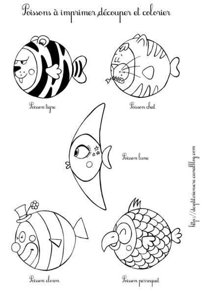 April fish to print des p'tits riens créations poissons d'avril à imprimer