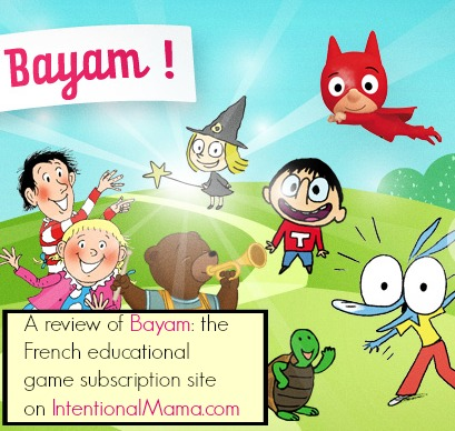 Bayam French online educational game site review
