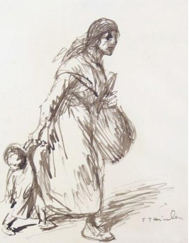 Mère et enfant by TheophileSteinlen
