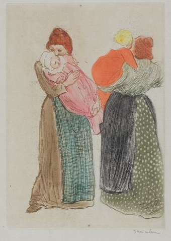 Les deux mères by Theophile Steinlen