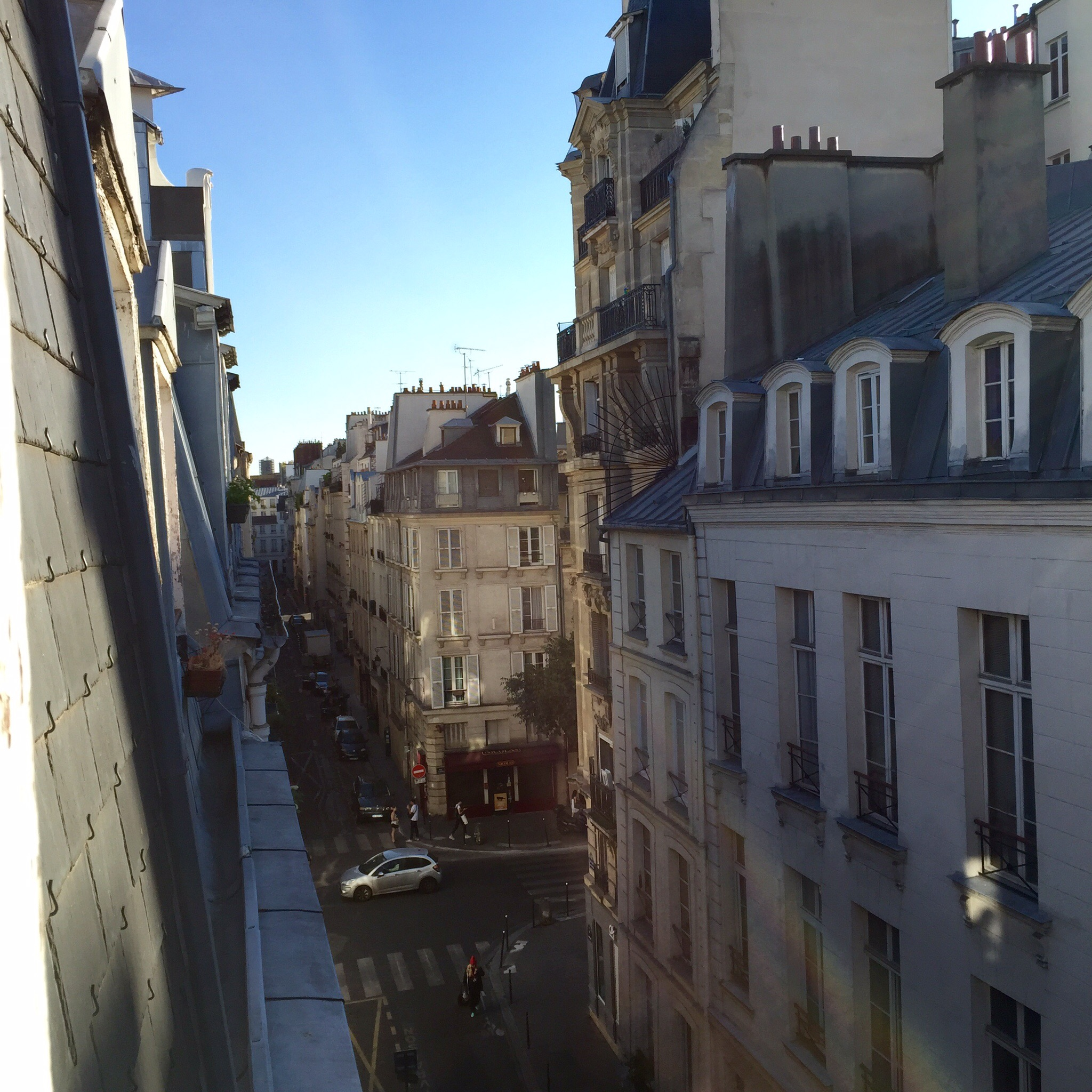 View from our apartment in Paris