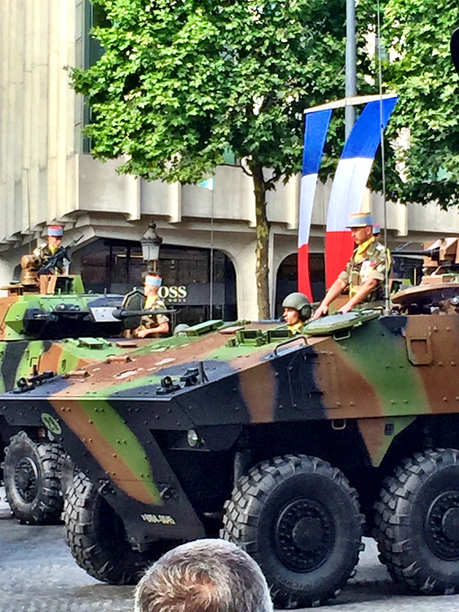 Tanks on the Champs-Elysées for the Bastille Day parade