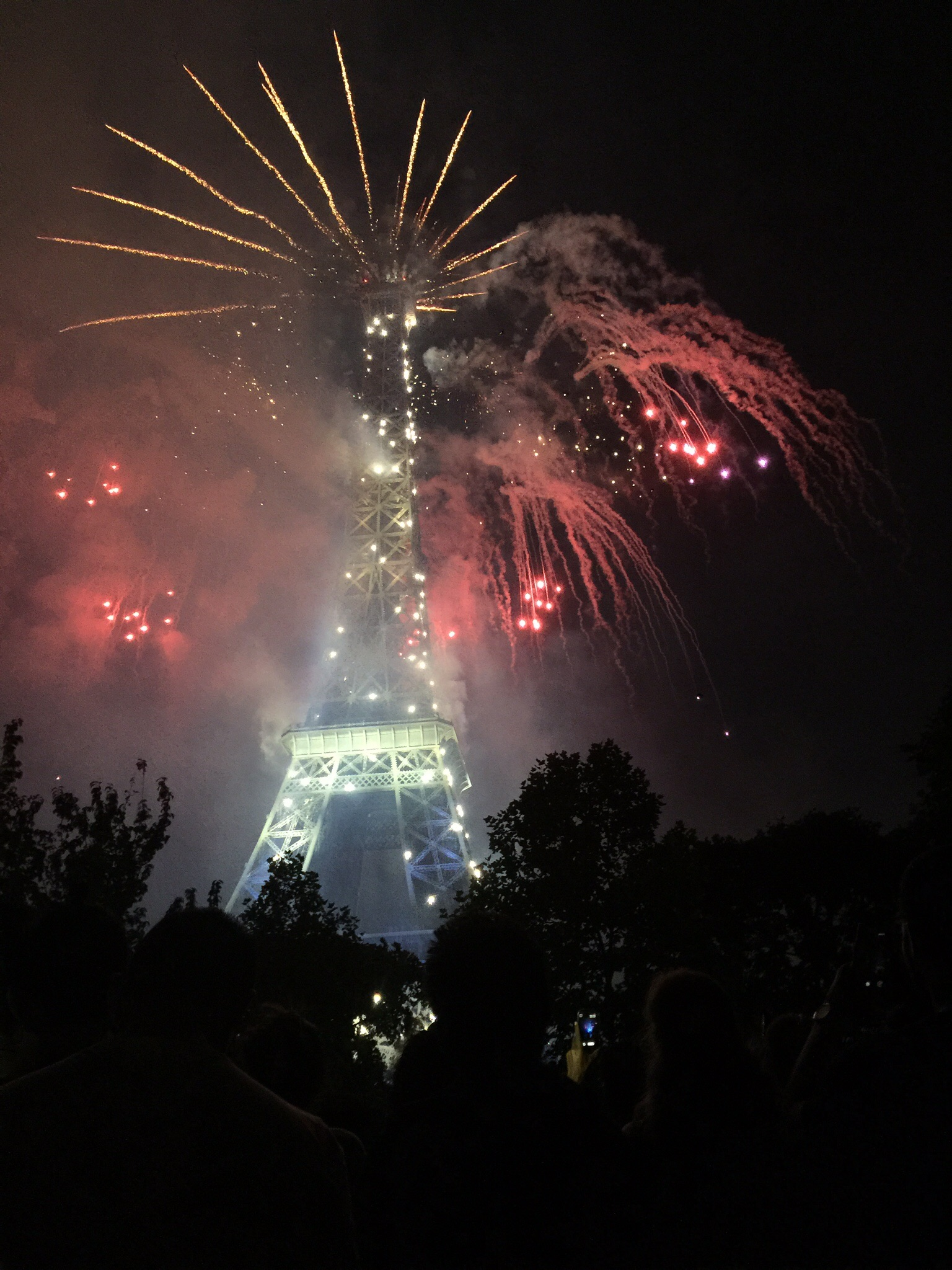 The Eiffel Tower echoing Lady Liberty