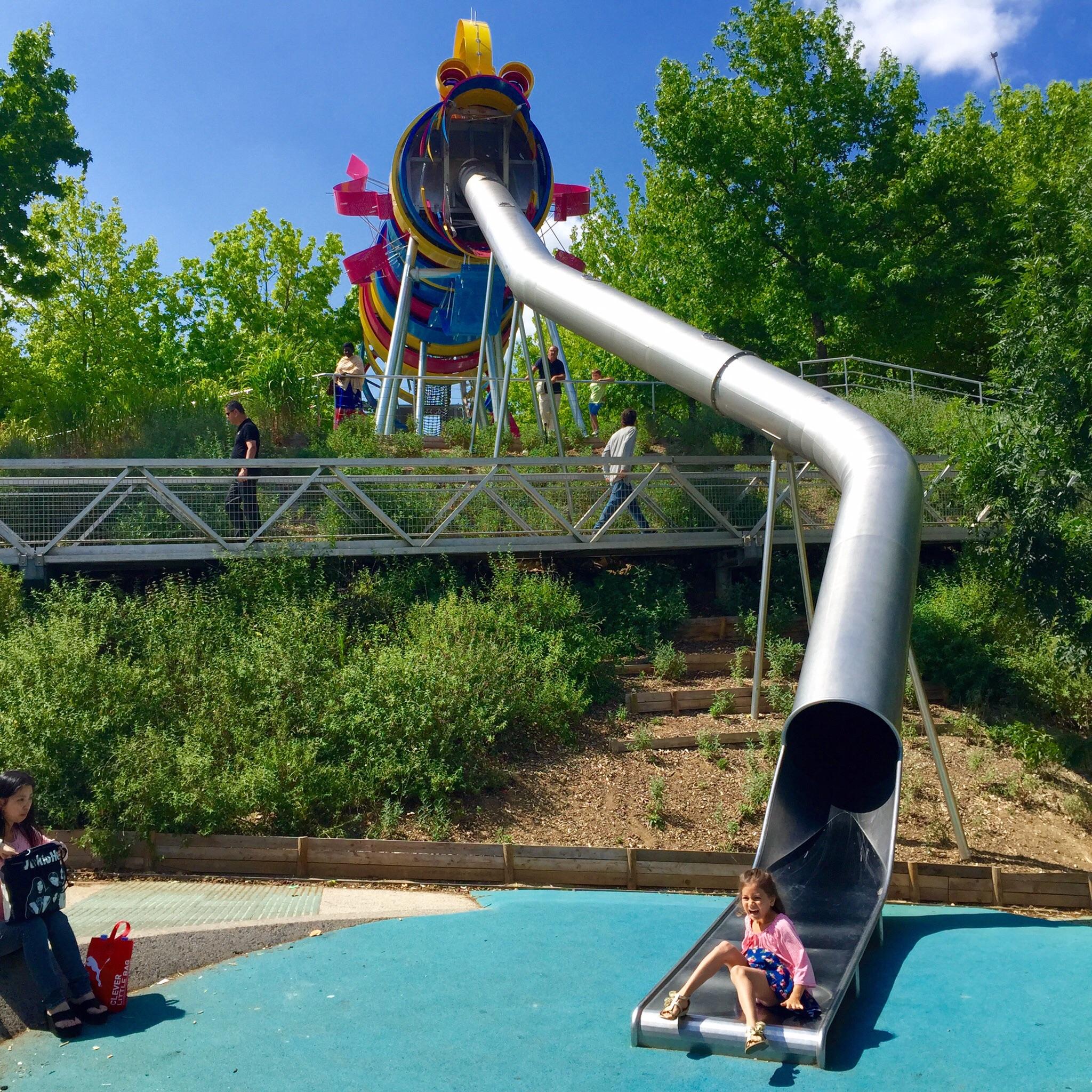 The dragon slide at Parc de la Villette