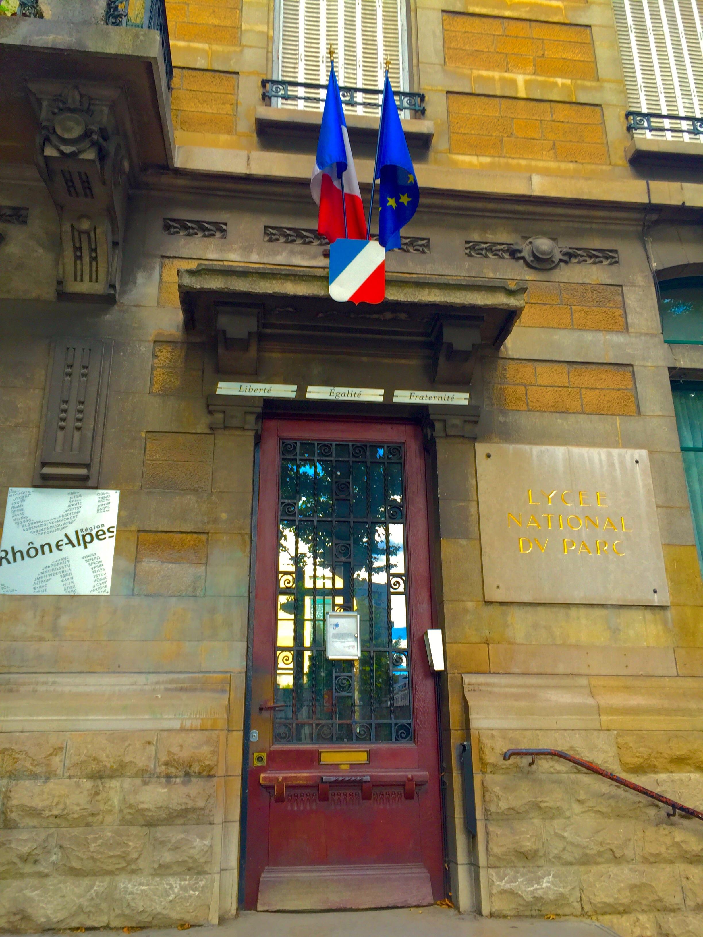 A French high school entrance