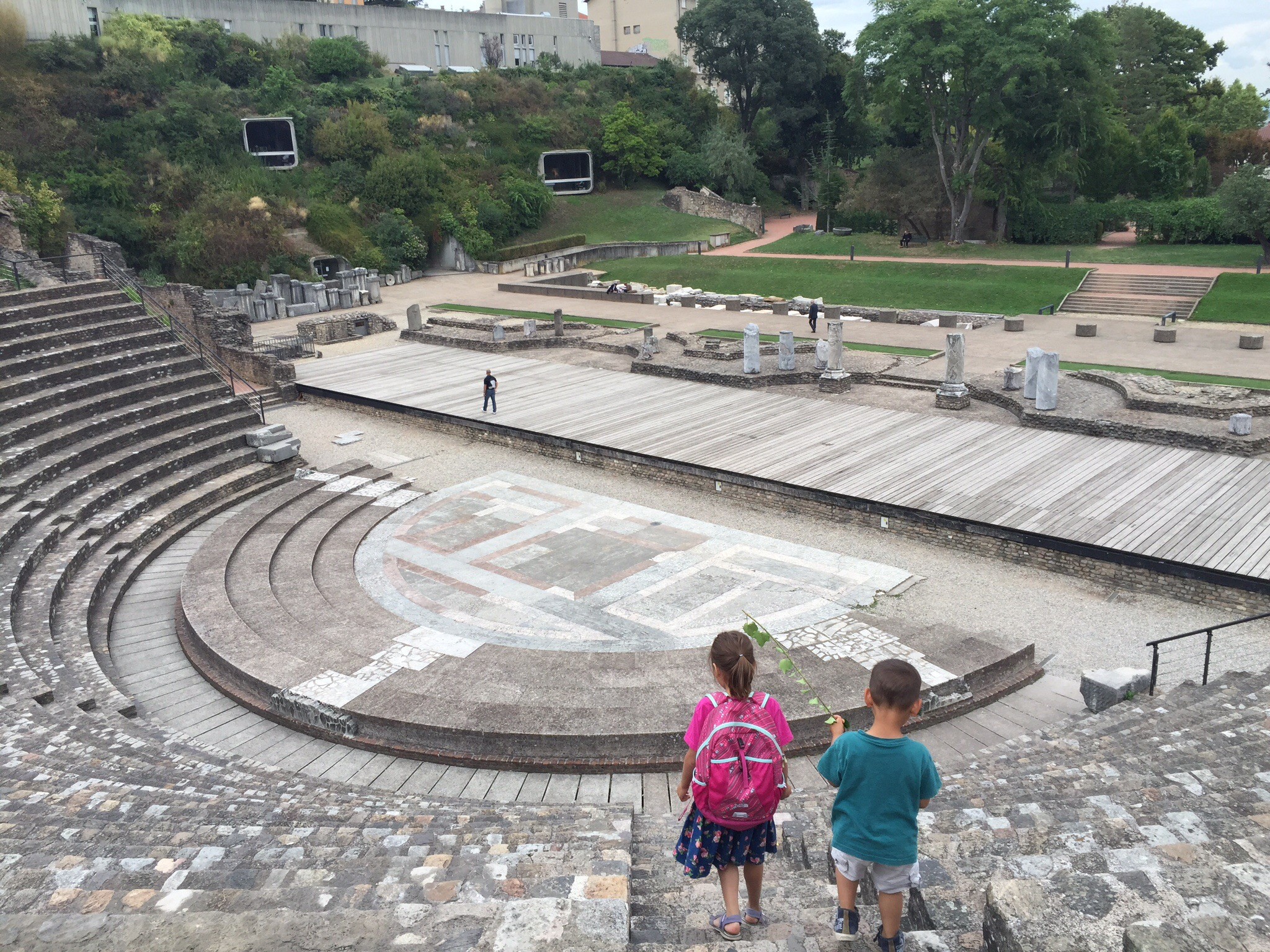 Visiting the nearby Roman ampitheater after school