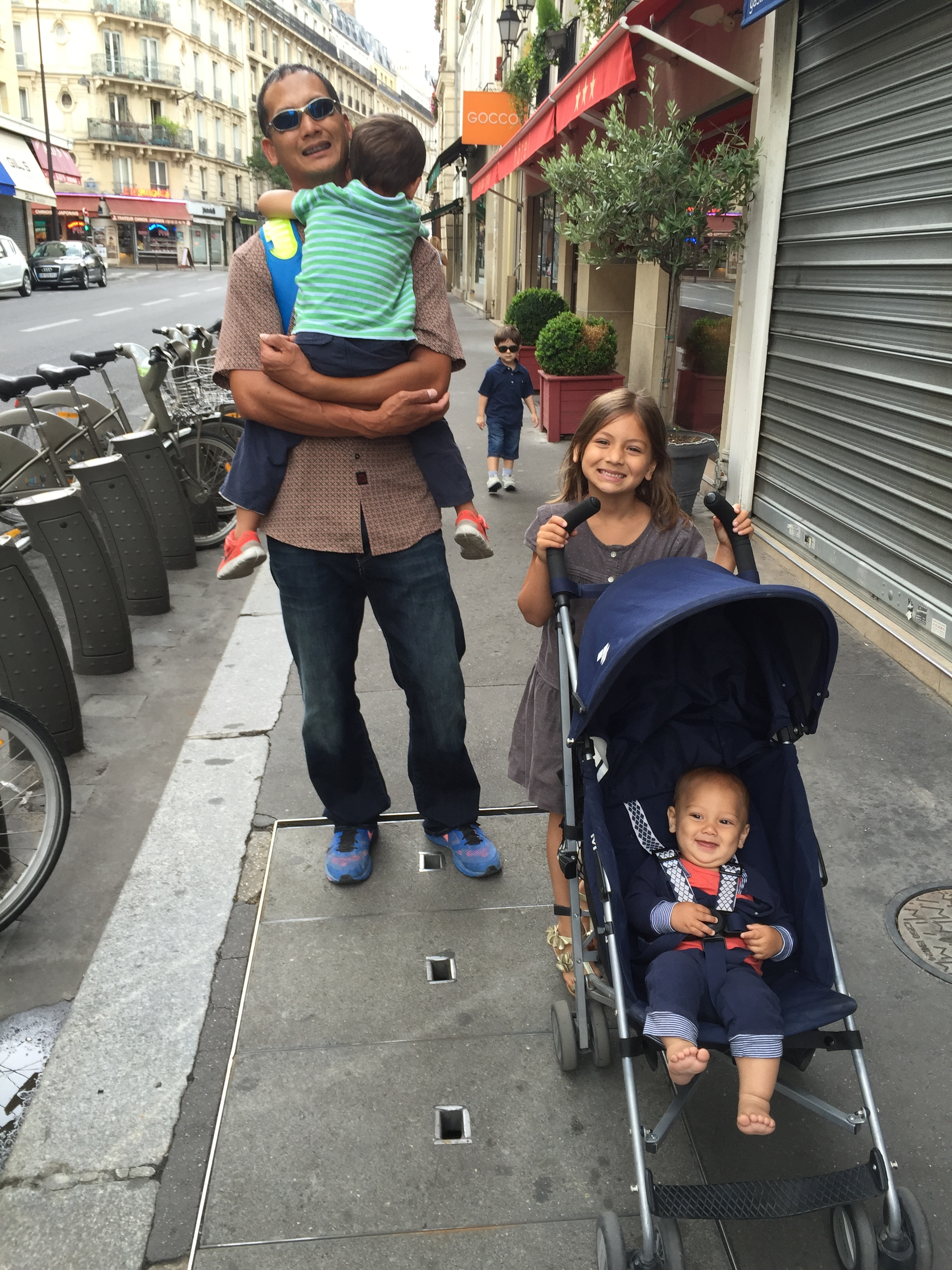 Paris by stroller family France American