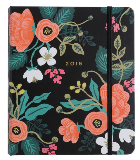 My 2016 day planner (from  Rifle Paper Co )