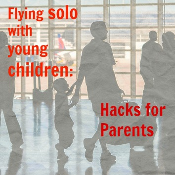 Flying solo young children hacks parent tips family by Thomas Hawk flickr