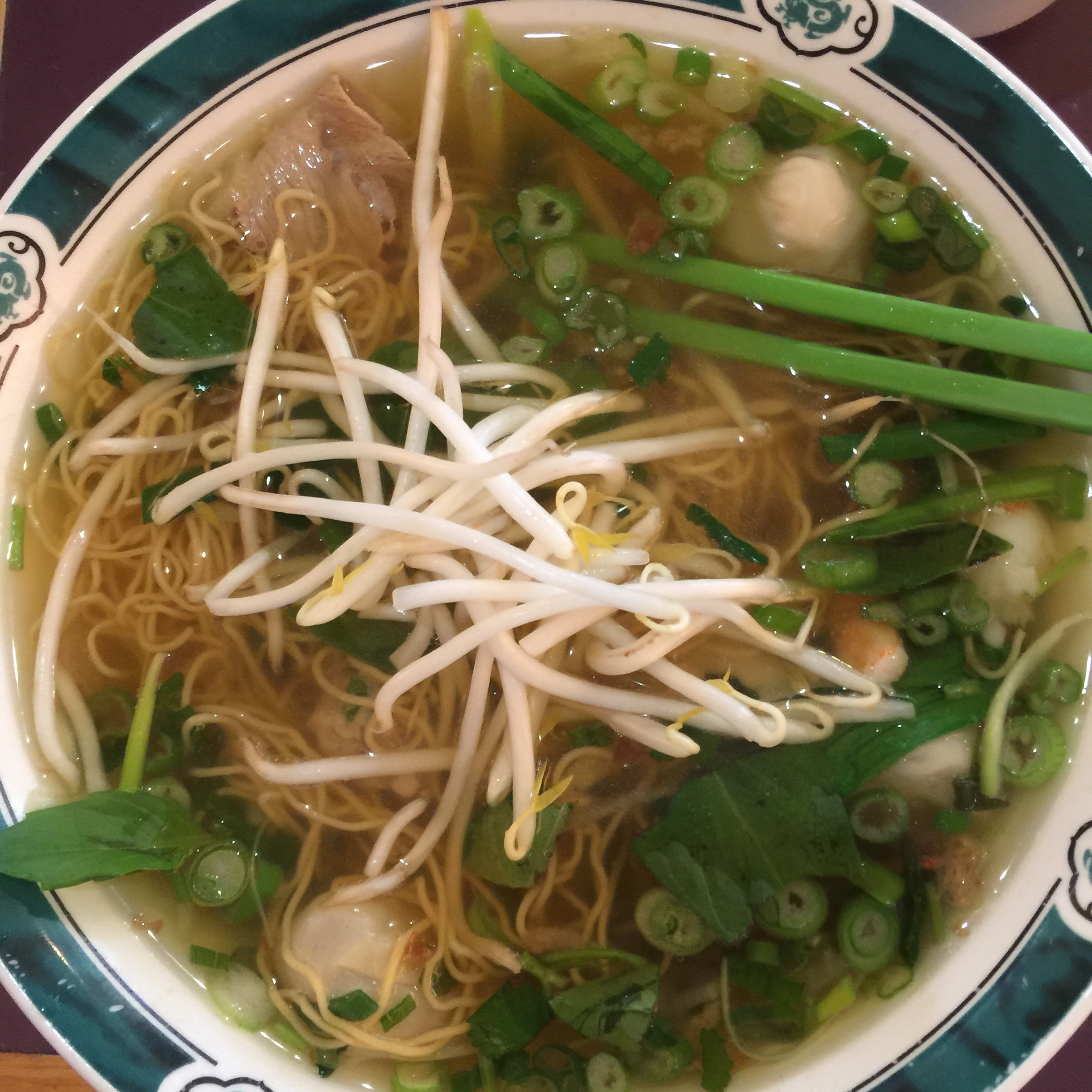 My egg noodle & wonton soup from Pho Thanh this past weekend
