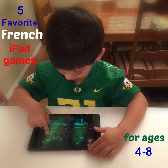 5 favorite French iPad apps games tablet educational children preschool elementary