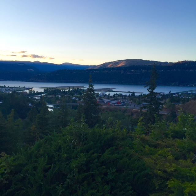View of the Columbia Gorge from Hood River, Oregon