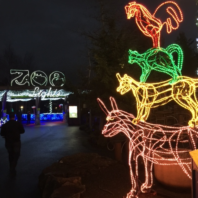 Oregon Zoo Zoolights Holiday musicians breme