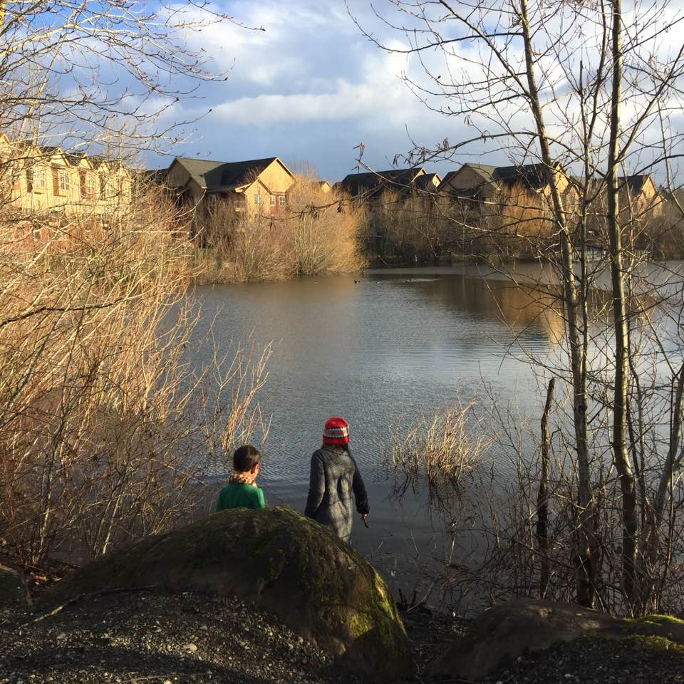 My two oldest children playing outdoors this past winter