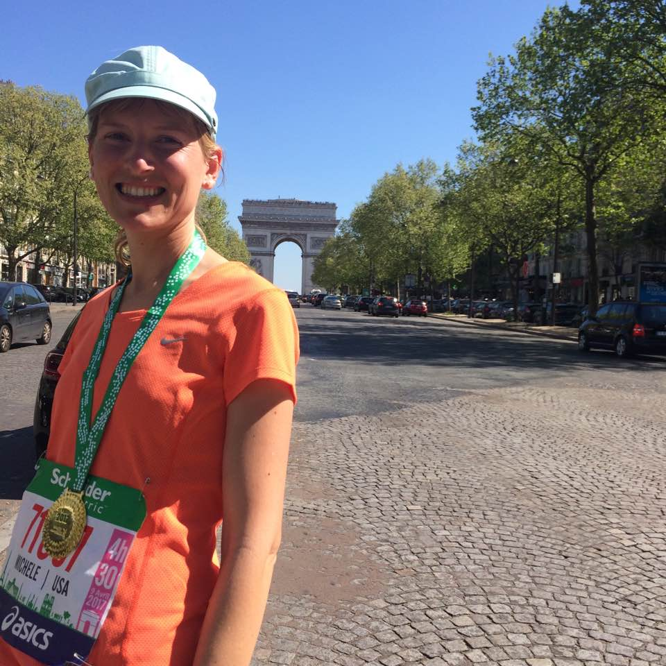 """On the  Champs  afterward, remembering the  words of Sandra Boyton, """"And one is wonderful after a crowd.""""    Previous post:   Approaching the Paris Marathon: from Oregon Snow to Sunday Sunshine"""