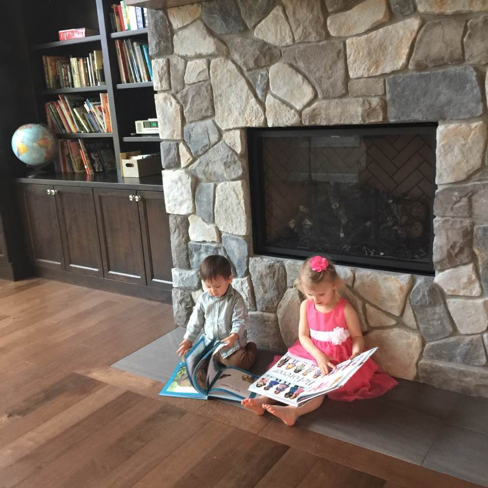 My youngest son and his cousin reading this past Easter Day