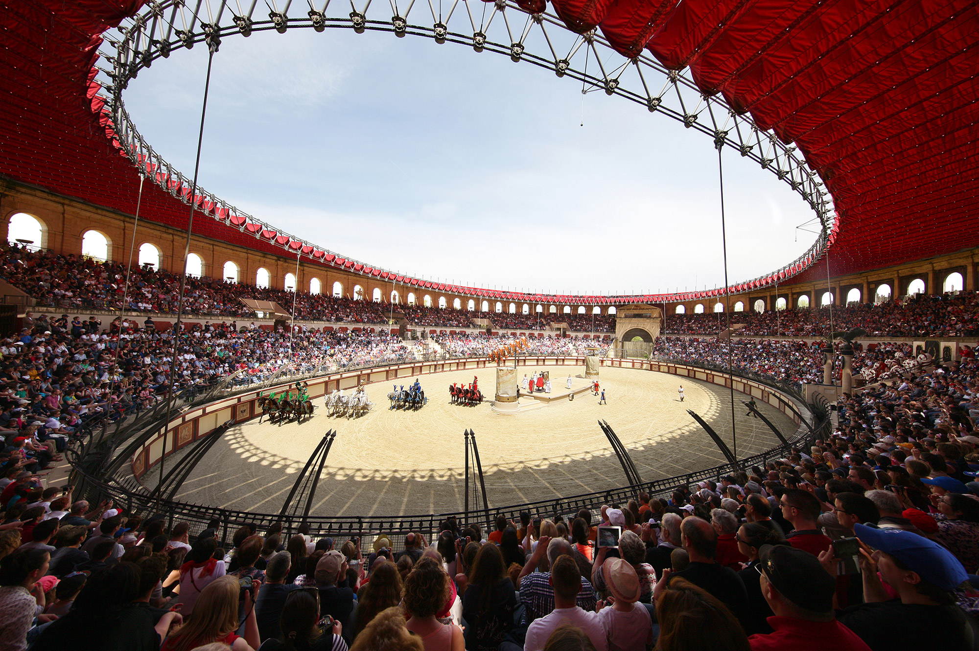 The show Signe du Triomphe in the Coliseum at Puy du fou (Photo courtesy Puy du Fou)