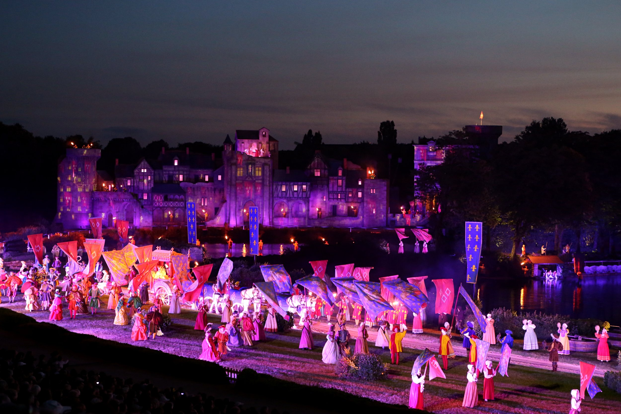 Photo of Cinéscenie, the world's largest night show, courtesy Puy du Fou