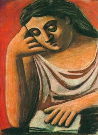 la lecture by Pablo Picasso, 1921