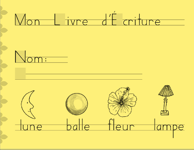 French printing or cursive workbooks are available from HWT