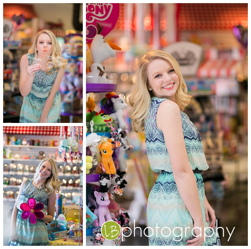 Not sure which is sweeter...the candy in the Candy Bar Shop or Morgan! Close tie, for sure!