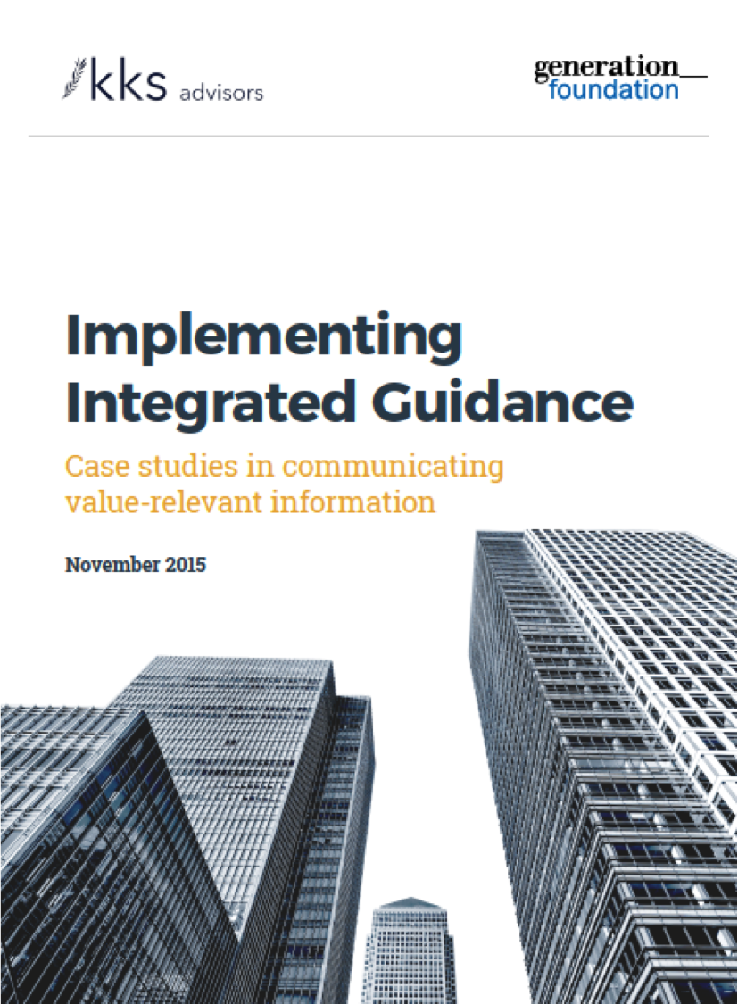 Implementing integrated guidance