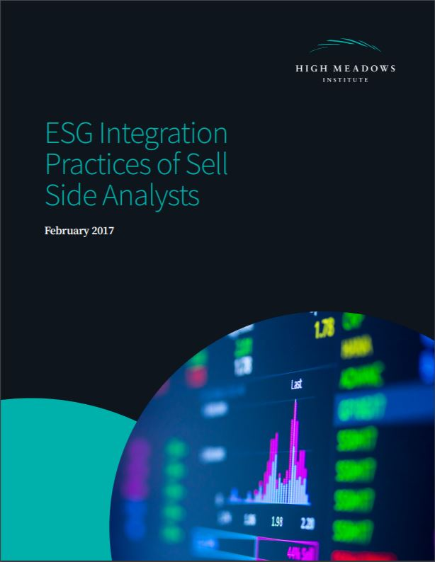 Title:  ESG Integration Practices of Sell Side Analysts  Authors:  Chris Pinney, Sakis Kotsantonis, Caitlin McCorkle, Joe Lewis   Date:  February 2017
