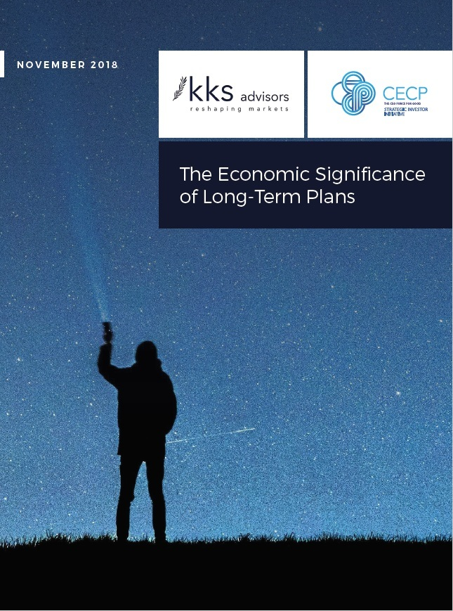 Title:  The Economic Significance of Long-Term Plans  Authors:  Sakis Kotsantonis, Christina Rehnberg, George Serafeim, Brian Tomlinson, Bronagh Ward  Date:  November 2018