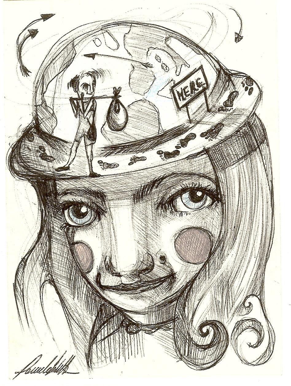 Cappello mappamondo