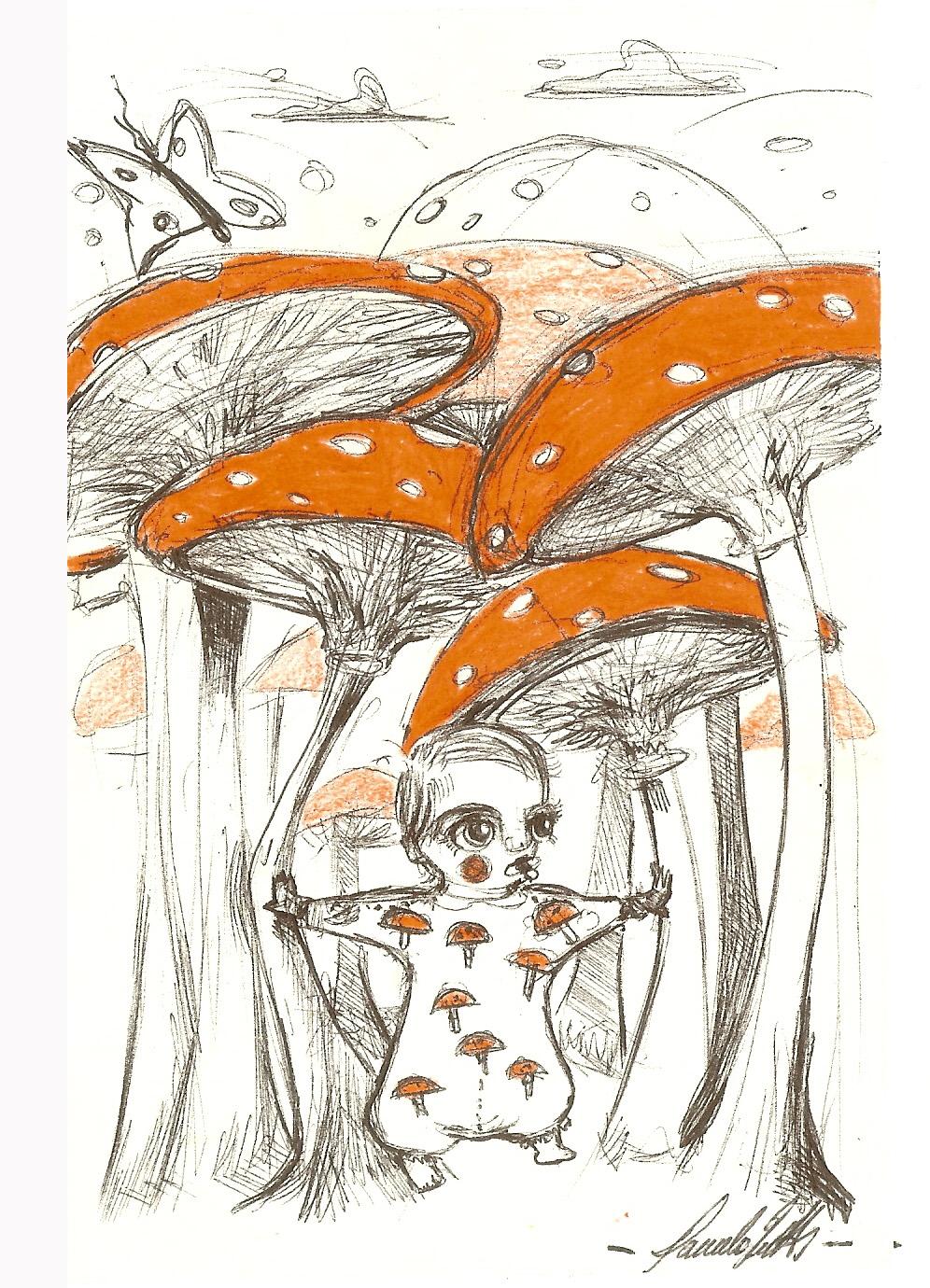 Foresta di funghi