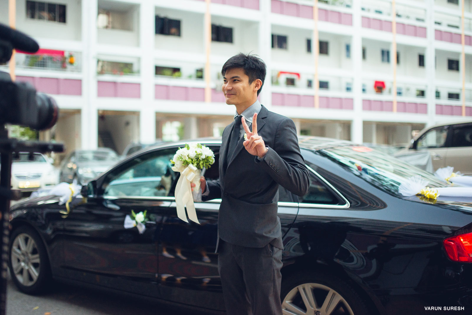 Singapore is known for its discipline. Except when a wedding happens in the neighbourhood. The groom arrives with his men wrecking havoc! Honking the life out of the entire block!